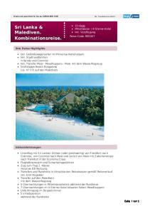 Sri Lanka & Malediven. Kombinationsreise