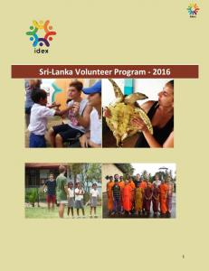Sri-Lanka Volunteer Program
