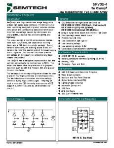 SRV05-4 RailClamp Low Capacitance TVS Diode Array
