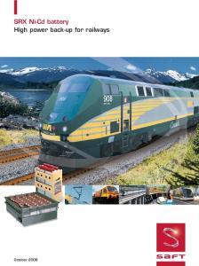 SRX Ni-Cd battery High power back-up for railways