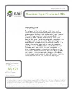 SS-421. Fluorescent Light Fixtures and PCBs. Introduction