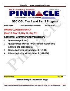 SSC CGL Tier 1 and Tier 2 Program
