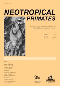 SSC Primate Specialist Group. Volume 14 Number 3 December 2007