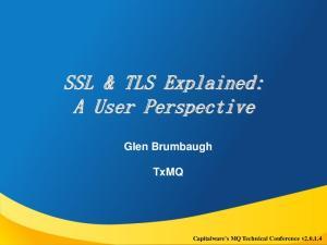 SSL & TLS Explained: A User Perspective