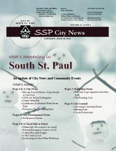 SSP City News. what s happening in. What s Inside? An update of City News and Community Events