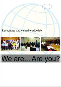 SSQI Consultancy, training and certification Recognized and valued worldwide. We are... Are you?