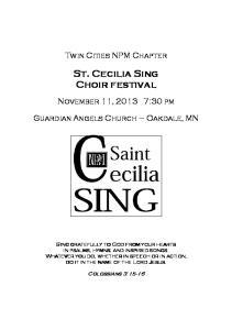 St. Cecilia Sing Choir festival