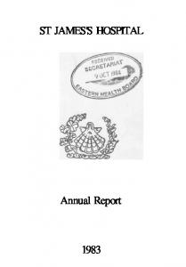 ST JAMES'S HOSPITAL. Annual Report
