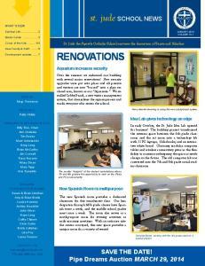 st. jude SCHOOL NEWS RENOVATIONS