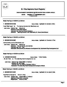St. Kitts Supreme Court Registry