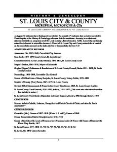 ST. LOUIS CITY & COUNTY