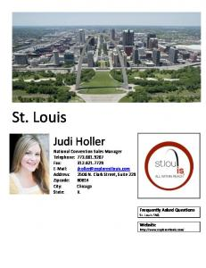 St. Louis. Judi Holler