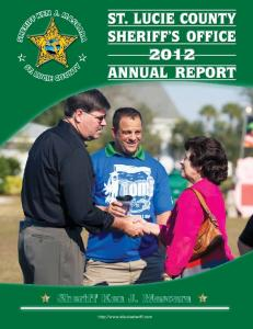 ST. LUCIE COUNTY SHERIFF S OFFICE 2012 ANNUAL REPORT