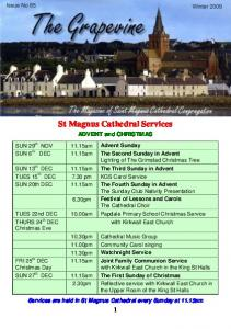 St Magnus Cathedral Services