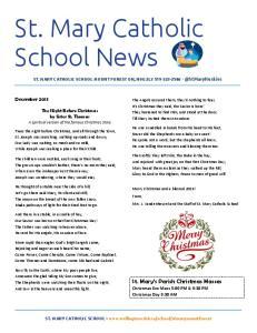 St. Mary Catholic School News