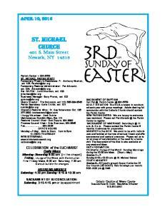 St. Michael Church. 401 S. Main Street Newark, NY April 10, 2016
