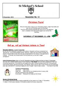 St Michael s School. Christmas Fayre! SATURDAY, 5 TH DECEMBER, 12 4PM