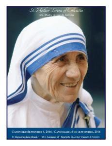 St. Mother Teresa of Calcutta