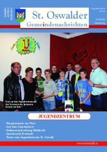 St. Oswalder. Gemeindenachrichten JUGENDZENTRUM