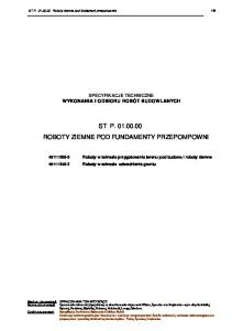 ST P ROBOTY ZIEMNE POD FUNDAMENTY PRZEPOMPOWNI