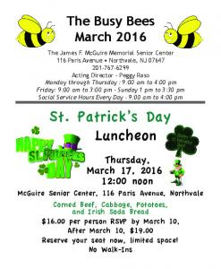 St. Patrick s Day Luncheon