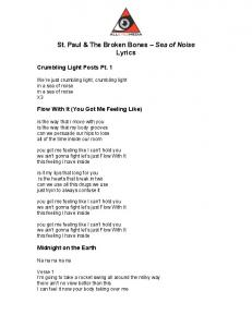 St. Paul & The Broken Bones Sea of Noise Lyrics