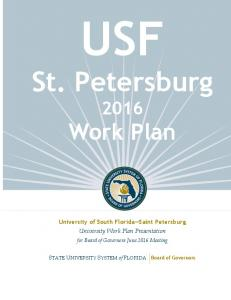 St. Petersburg Work Plan