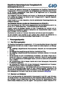 Staatliche Gewerbeschule Energietechnik Sanierungskonzept der G 10