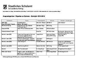 Staatliches Schulamt im Landkreis Erding