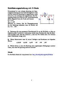 Stabilisierungsschaltung mit Z-Diode
