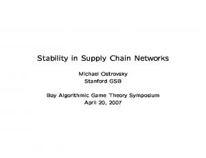 Stability in Supply Chain Networks