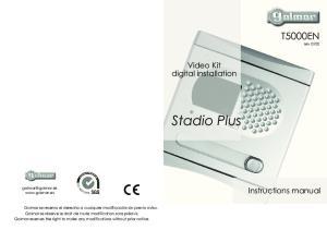 Stadio Plus. T5000EN rev Video Kit digital installation. Instructions manual