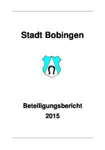 Stadt Bobingen Beteiligungsbericht 2015