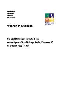 Stadt Kitzingen Stadtbauamt Schulhof Kitzingen Wohnen in Kitzingen