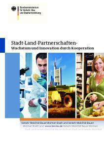 Stadt-Land-Partnerschaften- Wachstum und Innovation durch Kooperation
