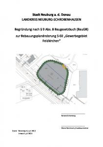 Stadt Neuburg a. d. Donau LANDKREIS NEUBURG-SCHROBENHAUSEN
