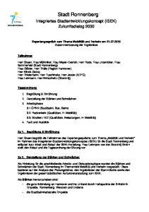 Stadt Ronnenberg. Integriertes Stadtentwicklungskonzept (ISEK) Zukunftsdialog 2030