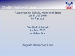 Stadtbibliothek Husum