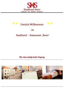 Stadthotel Stern Restaurant - Bar - Wellness Konferenz