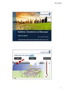 Stadtklima - Simulationen und Messungen