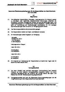 Stadtrecht der Stadt Mannheim