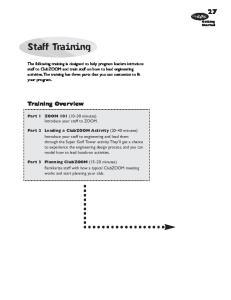 Staff Training. Training Overview. Club
