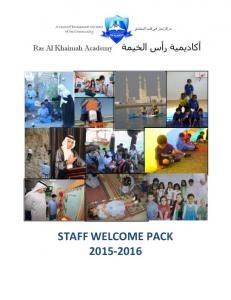 STAFF WELCOME PACK