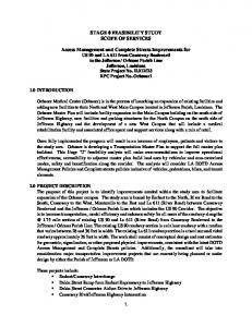 STAGE 0 FEASIBILITY STUDY SCOPE OF SERVICES
