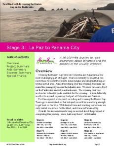 Stage 3: La Paz to Panama City
