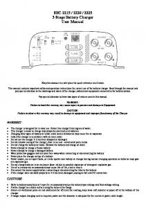 Stage Battery Charger User Manual