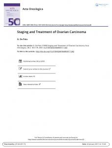 Staging and Treatment of Ovarian Carcinoma