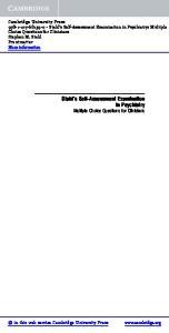 Stahl s Self-Assessment Examination in Psychiatry