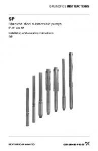 Stainless steel submersible pumps