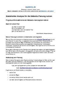 Stakeholder-Analyse für die Website-Planung nutzen